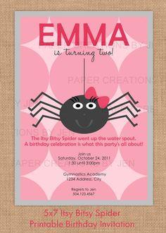 Itsy Bitsy Spider Birthday / Halloween by PaperCreationsByJen, $12.00