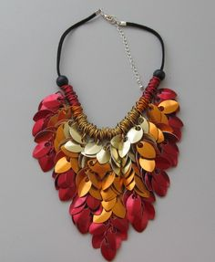 """Necklace made out of iron leaves by JewelsbyEstrid via DaWanda,"" shared by Sydney Jewellery School"