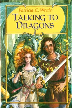 The Enchanted Forest Chronicles book 4: Talking to Dragons by Patricia C. Wrede.  Great fantasy book series with cover art by Trina