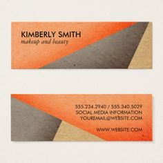 Hairstylist businesscards blank canvas folded business card modern bright color blocks mini business card flashek Gallery