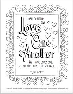 Coloring Pages for Kids by Mr. Adron: Printable Psalm 23:6