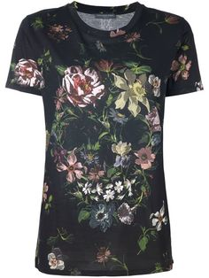 Shop Alexander McQueen floral skull print T-shirt in O' from the world's best independent boutiques at farfetch.com. Shop 400 boutiques at one address.
