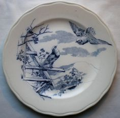 OLD English Plate Signed Cauldon THE Fables OF Lafontaine THE Doves | eBay
