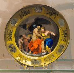 Jan de Vliegher ~ Treasury Series - Large-Scale paintings of antique/antique-style porcelain plates