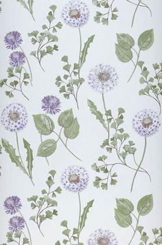 Tauria | Papel pintado floral | Patrones de papel pintado | Papeles de los 70