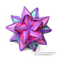 Origami Maniacs: Radianta Whirl Kusudama By E. Lukasheva