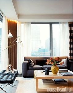 In a new 37th-floor Manhattan apartment, designers David Greer and Andrew Halliday mixed modern classics.