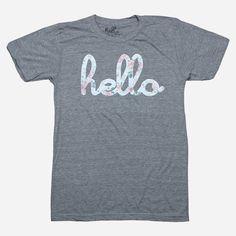 Hello Floral (Adult & Kids) Heather Grey Tri-Blend - Hello Apparel - Hello Merch