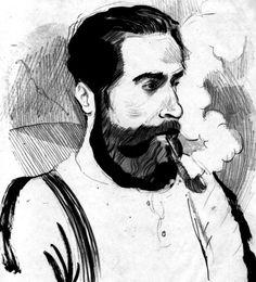 beard and pipe