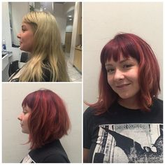 22 Trendy Bob Hairstyles with Bangs - PoPular Haircuts Textured Bob Hairstyles, Graduated Bob Hairstyles, Bob Hairstyles With Bangs, Short Bob Haircuts, Fringe Hairstyles, Trending Hairstyles, Corte Shaggy, Bob Haircut With Bangs, Stylish Hair
