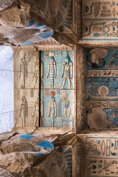 Egyptian Temple, Egyptian Art, Ancient Egypt Art, Ancient History, Pyramids Egypt, Ceiling Painting, Ancient Civilizations, Archaeology, Antiques