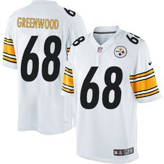 Nike Limited L.C. Greenwood White Men's Jersey - Pittsburgh Steelers #68 NFL Road
