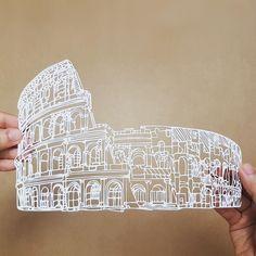 #paperart #papercut #handmade #paperartist #art #paper #papercutting #roma #colosseo #colosseum #rome #coliseum #amphitheatre #papercuts #design #colosseoroma #paperarts #etsy #illustration #italy #eur #artwork #diy #italia #architecture #ig_italy #ig_roma #ig_rome #etsyshop #decor