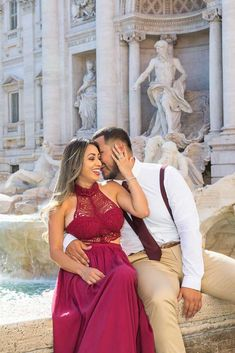 A beautiful and romantric Couple Photo Shoot in some of the most scenic and remarkable locations in Rome. Pictures by the Andrea Matone photographer studio Couple Posing, Couple Photos, Trevi Fountain, Photographic Studio, Bridesmaid Dresses, Wedding Dresses, Rome Italy, Photo Sessions, Cool Pictures