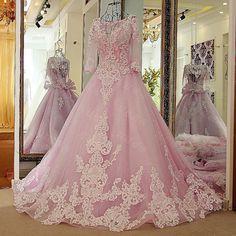 LS587001 Pageant Dresses for Women Dubai Long Evening Dress Glitter Crystal Lace Half Sleeves Corset Back Avondjurken 2016