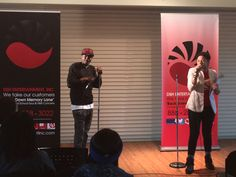 """Taken  on April 11, 2016, in the picture is Jun June & Cassie hosting all of the Spoken Word Poetry Events during the """"W.U.R.D. IS BALM VII"""" Open Mic Poetry Jams at Chicago State University.    DSH ENTERTAINMENT, INC. was (1) one of the sponsors for the April, 2016, poetry events.  #SpokenWordPoetry #Poetry #Poets"""
