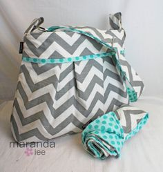 Perfect Baby Shower Gift! Stella Chevron Diaper Bag Set
