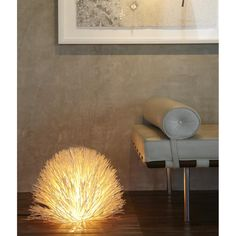 Essence Floor Lamp | Overstock.com Shopping - Great Deals on Floor Lamps -- This might give a nice lighting effect, if we put it on the floor in the corner behind the sofa.