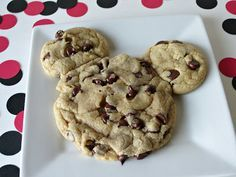 Mickey Mouse Chocolate Chip Cookies - Love to be in the Kitchen