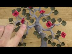 Folding the Clematis Flower  Origami Bonsai tree