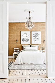 First Apartment Style Fixes: 9 Times a Chair Was The Perfect Nightstand (or side tables) Home Bedroom, Bedroom Decor, Modern Bedroom, Minimalist Bedroom, Bedroom Ideas, Bedroom Artwork, Bedroom Beach, Bedroom Rustic, Decor Room