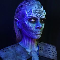Recreation of a White walker makeup. ❤️
