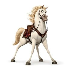 Tangled - Maximus (Frank Welker) is the palace horse belonging to the King and Queen's former captain. Though viewed as a mode of transportation and pet to some, Maximus is actually far more fierce and efficient than the former captain, himself, proving to pose much more of a threat to Flynn Rider during his days as a thief, and would've captured him without fail should Rapunzel never intervened.