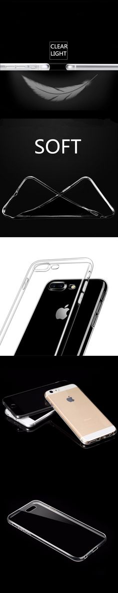 Luxury Soft Transparent TPU Phone Case for iPhone 7 Case 5s 6s Plus SE Crystal Silicone Cases for iPhone 6 Case Phone Cover