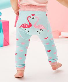 Love this Blue Flamingo Leggings - Infant by Doodle Pants on #zulily! #zulilyfinds