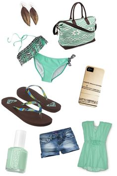 Mint and Chocolate beach clothes /// colors