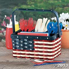 Patriotic Utensil Caddy terrysvillage.com