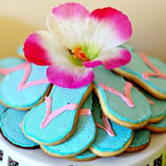 Flip-flop Cookies Recipe - Hawaiian Themed Kids Party