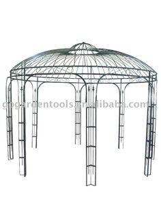 Patio furniture garden iron gazebo