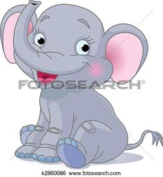 Baby elephant View Large Clip Art Graphic