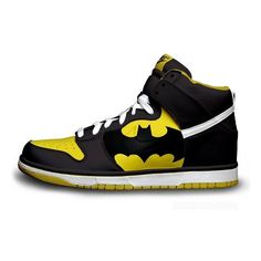 Batman Nike Dunks ❤ liked on Polyvore