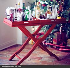 Love this Belvedere Butler's Tray Table   #holidayentertaining