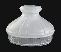 Looking for a glass lamp shade? Try these shade with early style, etched to clear design. Etched Glass, Glass Etching, Plain Tops, Glass Replacement, Antique Lamps, Glass Shades, Craftsman, Crystals, Antiques