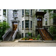 montreal townhouse ❤ liked on Polyvore featuring pictures, backgrounds, house, photos and places