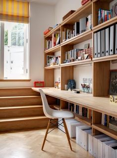 Trendy home office desk storage bookcases Ideas Under Desk Storage, Bookcase Storage, Ikea Storage, Storage Ideas, Storage Place, Organization Ideas, Home Office Space, Home Office Desks, Desk Space