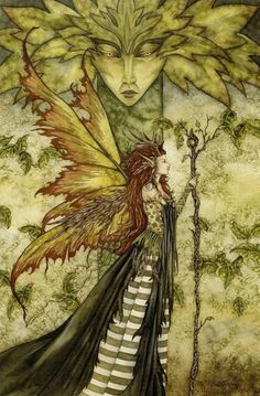 """"""" The green Woman by Amy Brown  """""""