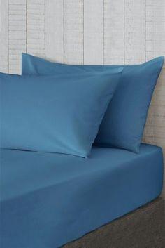 Denim Set Of 2 Easy Care Pillowcases