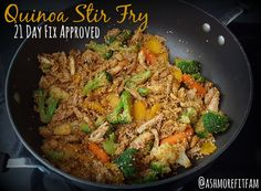 One pan stir fry that's healthy, delicious and 21 Day Fix approved!