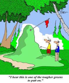 golf jokes   Golf Cartoon: Tougher Green - Jerry King