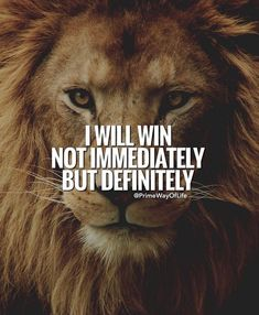 I will win not immediately but definitely. Who among you believe this will happen in your life? Lion Quotes, Wolf Quotes, Wisdom Quotes, True Quotes, Motivational Quotes For Success, Meaningful Quotes, Great Quotes, Positive Quotes, Inspirational Quotes