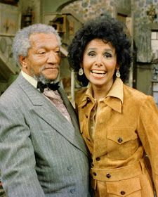 "Lena Horne and Redd Foxx on the set of ""Sanford and Son"". Love this episode!!!"