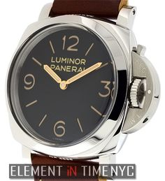 Officine Panerai Luminor 1950 3 Days 47mm iN Stainless Steel With A Black Arabic Sandwich Dial (PAM 372)