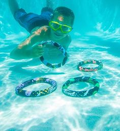 Buy Set of 4 Aqua Fun Active Xtreme Multi-Colored Swimming Pool Dive Rings Swimming Pool Games, Pool Toys, Color Ring, Quality Time, Diving, Aqua, Home And Garden, Rings, Ebay