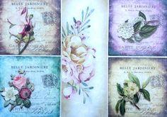 Rice Paper for Decoupage Decopatch Scrapbooking Sheet Craft Vintage Flowers L