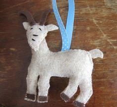 Goat Ornament felt