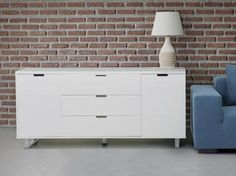 SEATTLE Commode Modern White Chest of Drawers (Sideboards & display cabinet)
